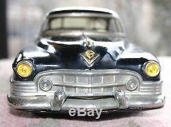 Vintage Marusan KOSUGE Tin Litho Friction Car CADILLAC 1951 or 1953 Black 12