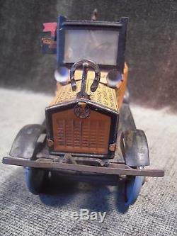 Vintage Marx Amos'N Andy Fresh Air Taxi Car Tin Litho Wind Up With Figures