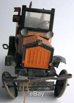 Vintage Marx Amos'n' Andy Fresh Air Taxicab Wind-up Tin Toy Car Automobile