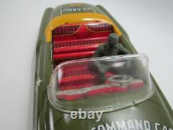 Vintage Marx Friction Army Command Car with Commander Great Condition
