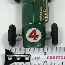 Vintage Marx Line Mar Indianapolis Speedway Racer Metal Tin Friction Car RARE