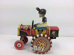 Vintage Marx MICKEY MOUSE Disney DIPSEY CAR Tin Litho Wind Up Toy Works