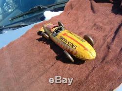 Vintage Marx Speed King car, 1930s, bullet racing car
