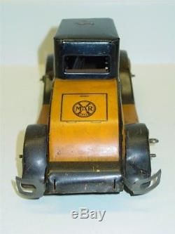 Vintage Marx Tin Litho Cadillac Coupe Car with Driver, Wind Up Toy Vehicle
