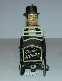 Vintage Marx Tin Wind Up Charlie Mccarthy Crazy Car