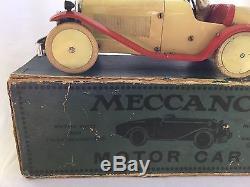 Vintage Meccano Motor Car Tin Toy in Original Box Windup Must See NR