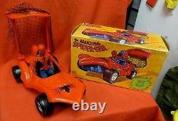 Vintage Mego 1979 Canada Grand Toys Spider Car Boxed Marvel Wgsh Joezeta