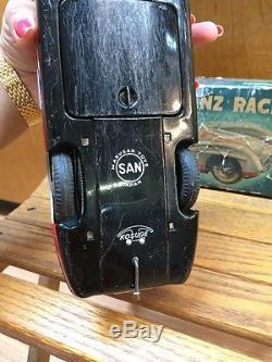 Vintage Mercedes Benz Marusan SAN Tin Toy Racing Car Silver Arrow Racer 50's