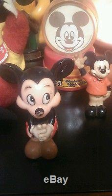 Vintage Mickey Mouse Walt Disney toys, banks, cars lot