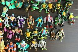 Vintage Mirage Toys Ninja Turtles Lot Action Figures Party Wagon Car Weapons