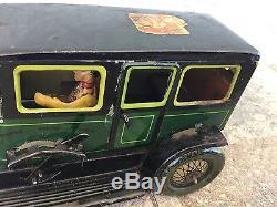 Vintage Moko Tin Windup Toy Limo Car Must See NR
