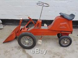 Vintage Morellet Guerineau MG pedal car dumper truck digger