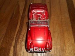 Vintage Original 1950s Bandai Triumph TR-3 Tin Toy Friction Sports Car