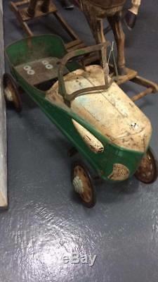 Vintage RARE 100% Original Steelcraft Pedal Car Headlights GAS OIL AUTO SODA