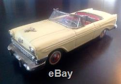 Vintage RARE 1955 56 57 Chevrolet Belair Convertible Bandai Friction Tin Toy Car