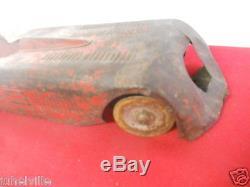 Vintage Rare 1927 Toy Kingsbury Motor Driven Red Windup Sunbeam Race Car