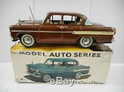 Vintage Rare Bandai Tin Toyopet Crown Deluxe Car #725 Boxed. Japan