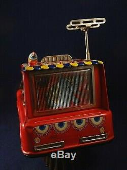 Vintage Rare Tin battery Toy car American Circus Television truck space boxed 50