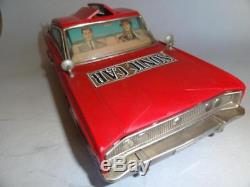 Vintage SONIC CAR DODGE CHARGER Battery Operated Tin Toys NOMURA JAPAN 1960's