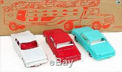 Vintage Set of 1960 Original No. 40 GMC Tonka Motor Transport withCars & Box