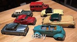 Vintage Sign Of Quality Made In Japan Bandai Tin Cars(7)Mercedes, Land Rover etc