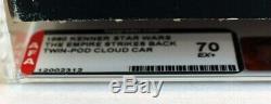 Vintage Star Wars ESB Boxed Twin-Pod Cloud Car Vehicle AFA 70 EX+ #12002312