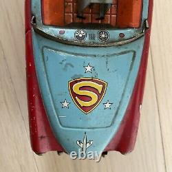 Vintage Super Mouse Tin Toy Mighty Mouse X-5 Mga Convertible Car Ichiko Japan
