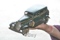 Vintage T. N Trademark KKK Litho Big Car Wind Up Tin Toy, Japan