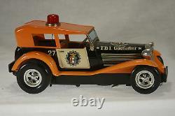 Vintage Taiyo Battery Powered Bump'N Go F. B. I. Godfather Car c1960
