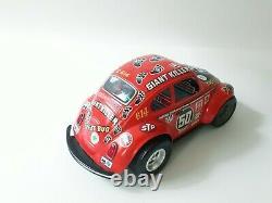 Vintage Taiyo Volkswagen Beetle VW Bug Tin Toy Giant Killer Racing car Japan