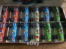 Vintage Telsada Toys Trade Box Grand Prix Circuit Racers With 12 Racing Cars