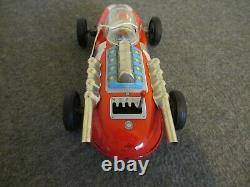 Vintage Tin Daiya Battery Operated 4 Speed Indy Racer Car- Works Great/excellent