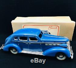 Vintage Tin Japan Prewar Buick V-8 Special Sedan Wind Up Toy Car W Original Box