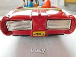 Vintage Tin Litho Pontiac GTO Monkeeys Toy Car. 12 Long, RARE
