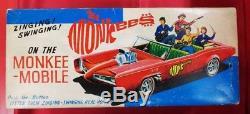 Vintage Tin Toy Aoshin ASC Friction car THE Monkees on the MONKEE-MOBILE Rare
