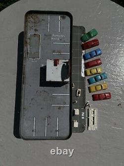 Vintage Tin Toy Marx Day Nite Service Center Gas Station w Cars Accessories