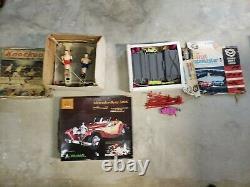 Vintage Tin Toys Race Cars Knockout Cragstan Mercedes Model Tin Toy Lot
