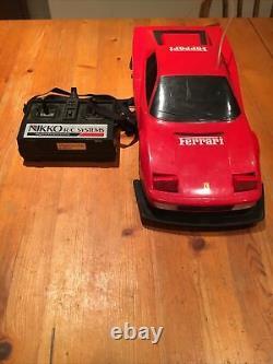 Vintage Toy Sports Car 1980s Nikko RC Ferrari Testarossa Radio Controlled Japan