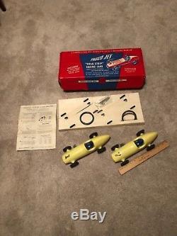 Vintage Toy Wind Up PAGCO Jet Drag Strip Race Car Set. NOS 1950s