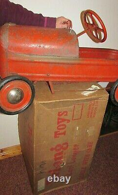 Vintage Triang Tin Plate pedal car Duke Motor Merton Lines brothers original Box