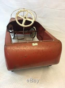 Vintage Triang pedal car THUNDERBOLT (5)