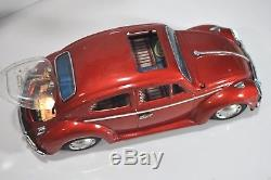 Vintage Volkswagen VW Beetle tin Bandai Japan bug toy car