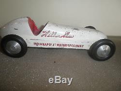 Vintage WILBUR SHAW cast aluminum Race Car Toy Racer Indianapolis 500 Souvenir
