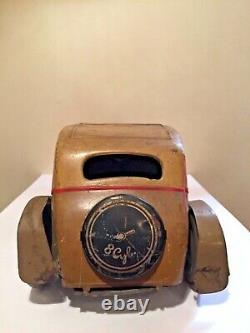 Vintage Wells Tinplate Clockwork Saloon Car