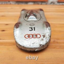 Vintage Wind-Up Tin Toy Car Auto Union Habi-Patent Hans Biller US Zone Germany