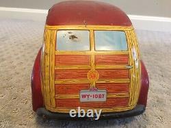 Vintage Wyandotte Toy Town Estate Car 20 Litho 1940s Pressed Steel