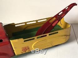 Vintage Wyandotte Toys Service Car Tow Truck Metal 21 Long