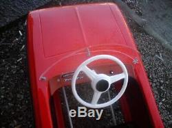 Vintage metal pedal car Moscvich