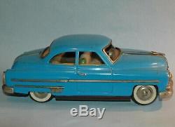 Vintage original ICHIKO Japan 1950 PONTIAC COUPÉ 14 friction tin plate FAT CAR