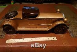 Vintage schieble scheible pressed steel toy coupe car race toy car lot antique